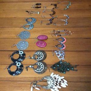 18 pairs of earrings!